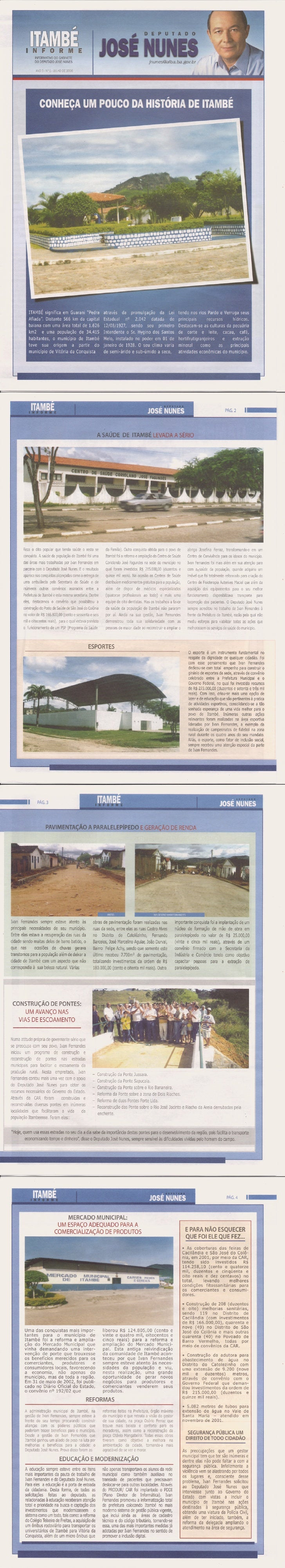 Boletim Informativo sobre o município de Itambe