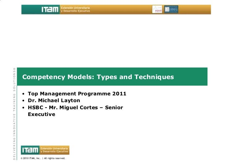 SOLUTIONS®                         Competency Models: Types and Techniques                         • Top Management Progra...
