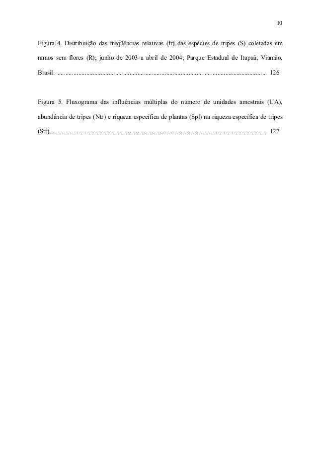 10  Figura 4. Distribuição das freqüências relativas (fr) das espécies de tripes (S) coletadas em ramos sem flores (R); ju...