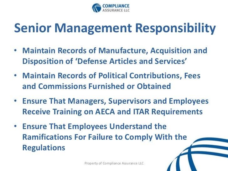 Itar For Senior Executives