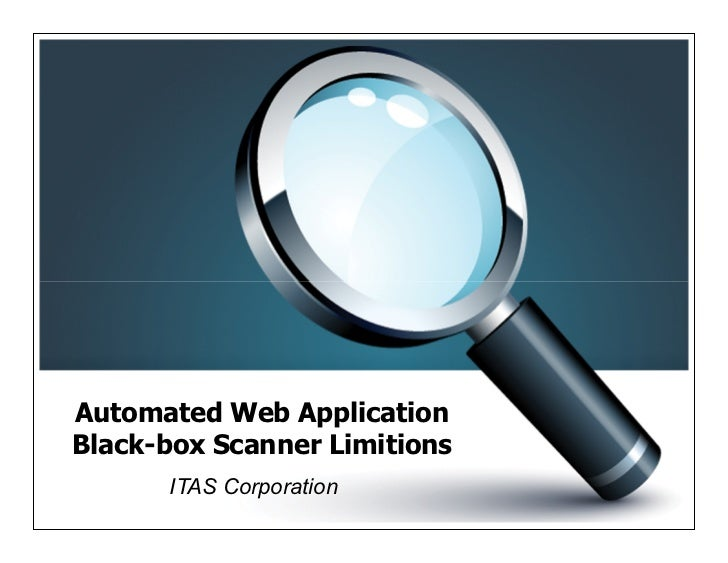 [ITAS.VN]Black-Box Automated Web Vulnerability Scanner Limitations
