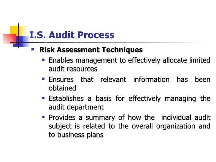 Examination techniques for organisational auditing
