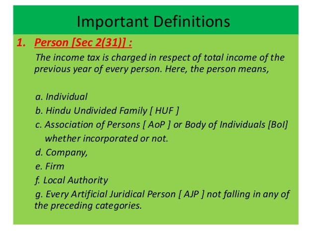 Income tax fundamental concepts.