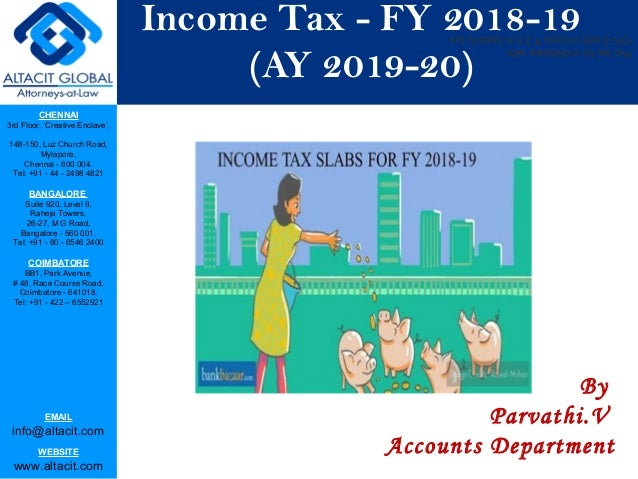 New Income Tax Laws For 2020 Income Tax AY 2019 2020