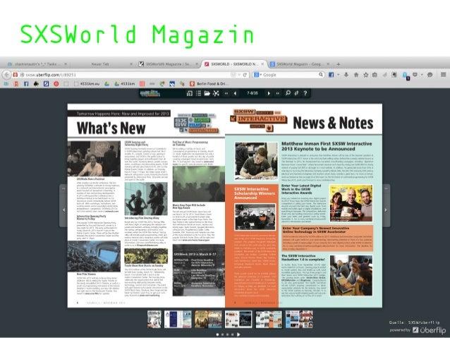 SXSWorld Magazin Quelle: SXSW/uberflip