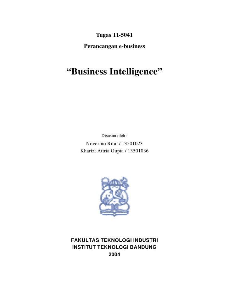 Itb 2004-perancangan e-business-business intelligence ...