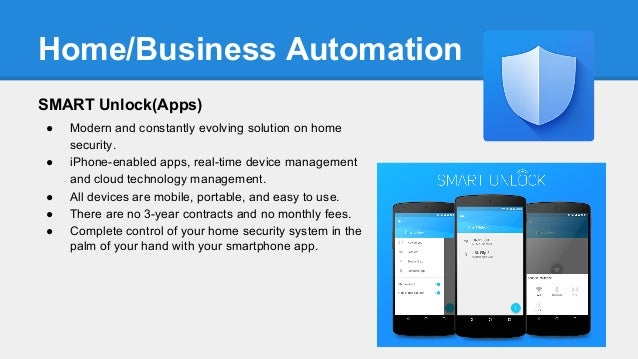 Project 1 business plan presentation for Home automation plan