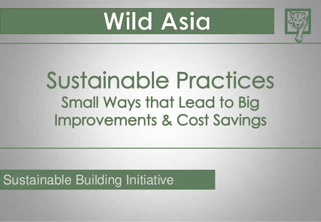 Sustainable Building Initiative