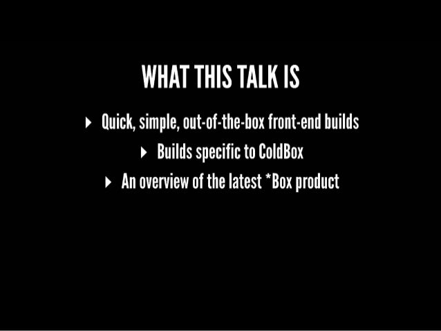 ITB2019 ColdBox Elixir v3: What's New and Improved - Jon Clausen Slide 3