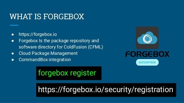 ITB2019 ForgeBox Enterprise : Private Software Directory - Javier Quintero Slide 2