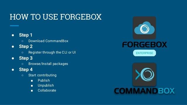 ITB2019 ForgeBox Enterprise : Private Software Directory - Javier Quintero Slide 3