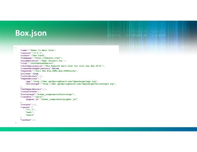 ITB2019 The many facets of CommandBox - Dan Card