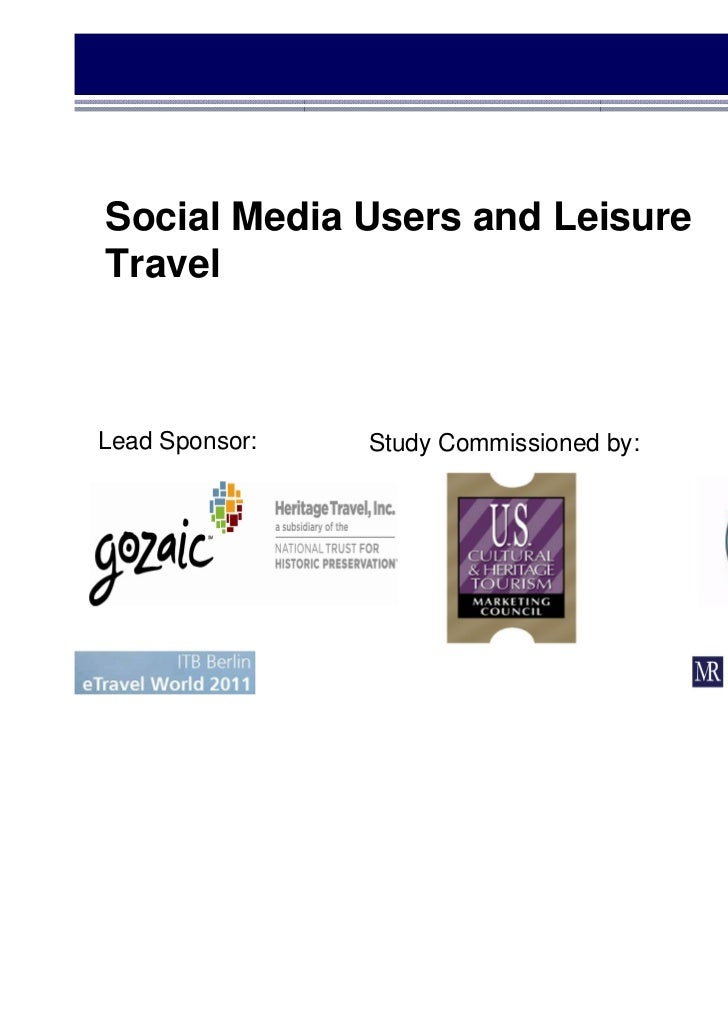 Social Media Users and LeisureTravelLead Sponsor:   Study Commissioned by:
