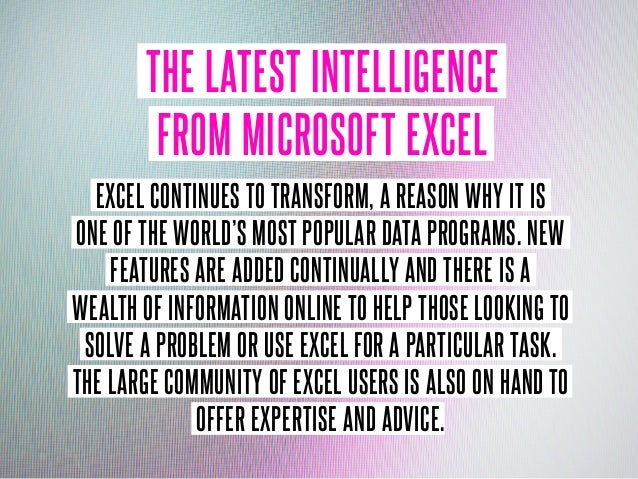 9 ways to power your Excel skills Slide 2