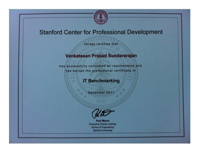 Stanford Engineering It Benchmarking Certificate Vps