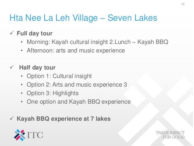 Hta Nee La Leh Village – Seven Lakes  Full day tour • Morning: Kayah cultural insight 2.Lunch – Kayah BBQ • Afternoon: ar...