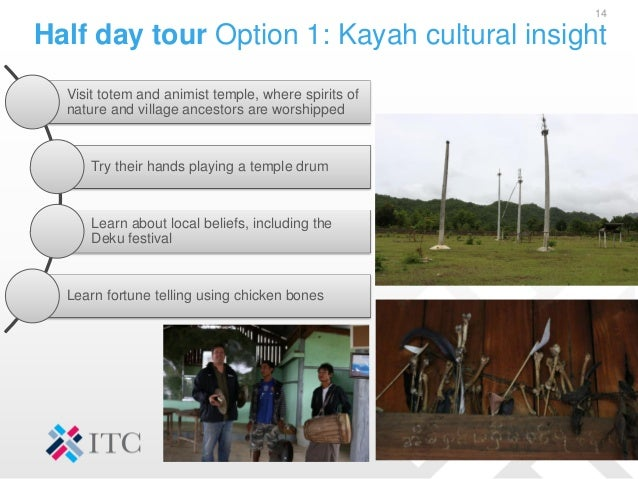 Half day tour Option 1: Kayah cultural insight 14 Visit totem and animist temple, where spirits of nature and village ance...