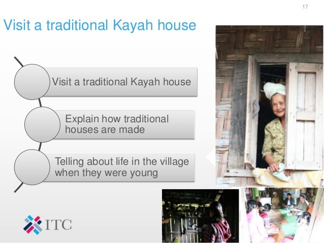 Visit a traditional Kayah house 17 Visit a traditional Kayah house Explain how traditional houses are made Telling about l...