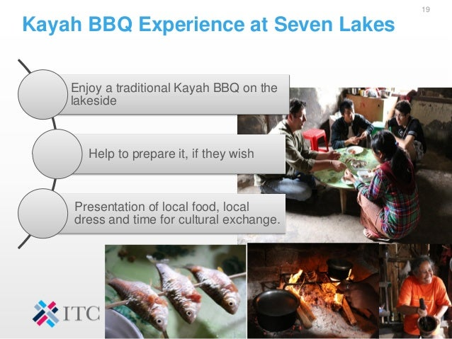Kayah BBQ Experience at Seven Lakes 19 Enjoy a traditional Kayah BBQ on the lakeside Help to prepare it, if they wish Pres...