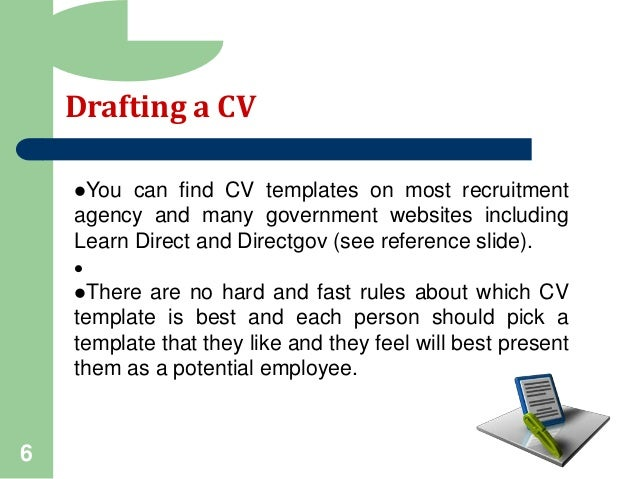 direct gov cv writing