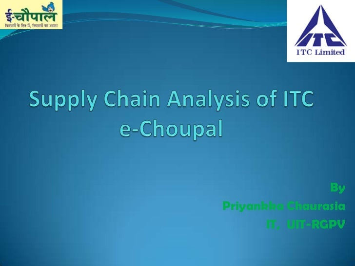 the itc e choupal initiative case study E-choupal: itc's rural networking project i abstract the e-choupal initiative directly links the this case study was prepared by.