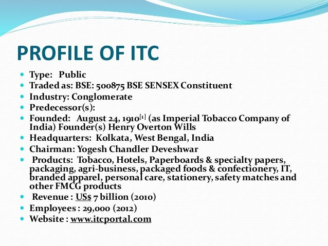 pest analysis of itc tobacco co The case presents itc limited as a dominant player in the industry with a significant dependence on tobacco and  pest / step analysis of itc  co-relation plots.