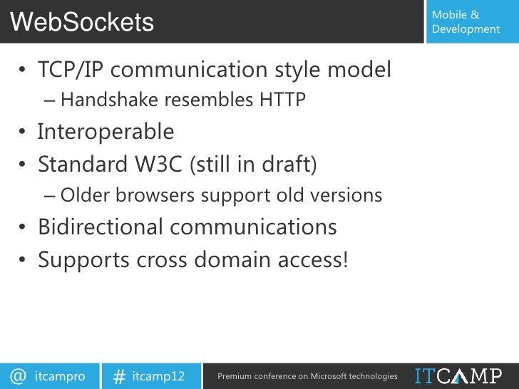 Building modern web sites with ASP  Net Web API, WebSockets