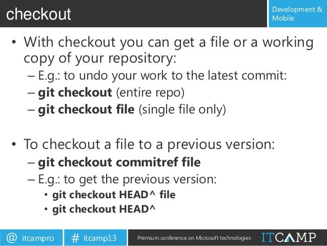 Git crash course for Visual Studio devs
