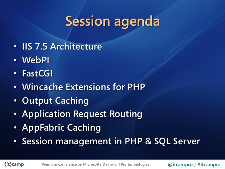ITCamp 2011 - Alessandro Pilotti - Optimizing ASPNet and PHP apps on …
