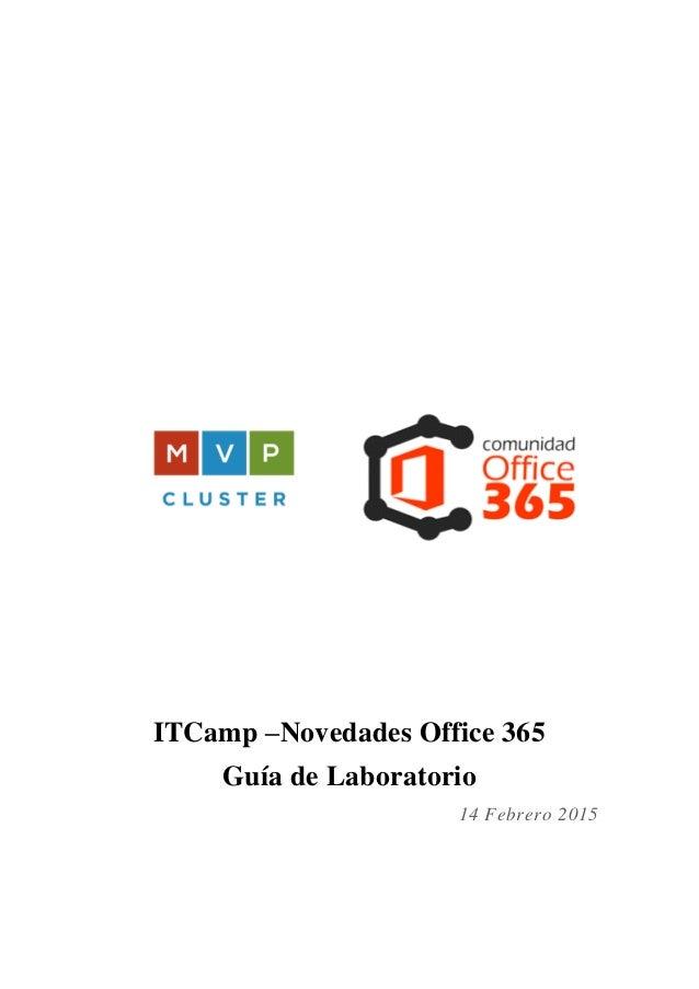 ITCamp –Novedades Office 365 Guía de Laboratorio 14 Febrero 2015