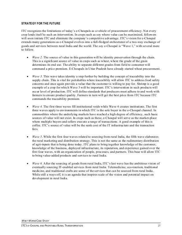 e choupal case study solution
