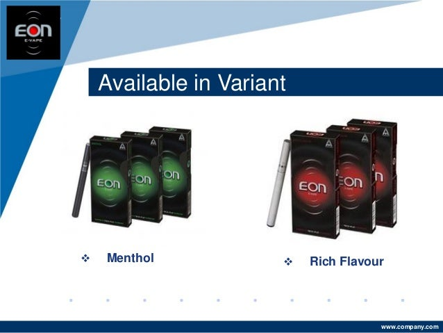 www.company.com Available in Variant Company LOGO  Rich Flavour Menthol