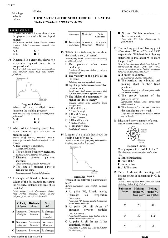 Chemistry form 4 topical question 2