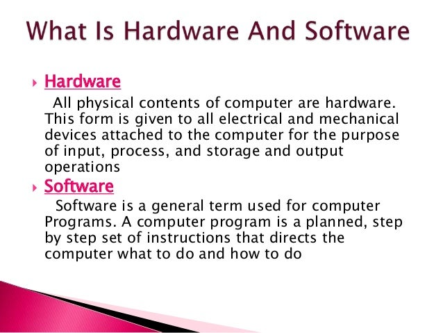 hardware and software definition system software and application software, compiler, interpreter