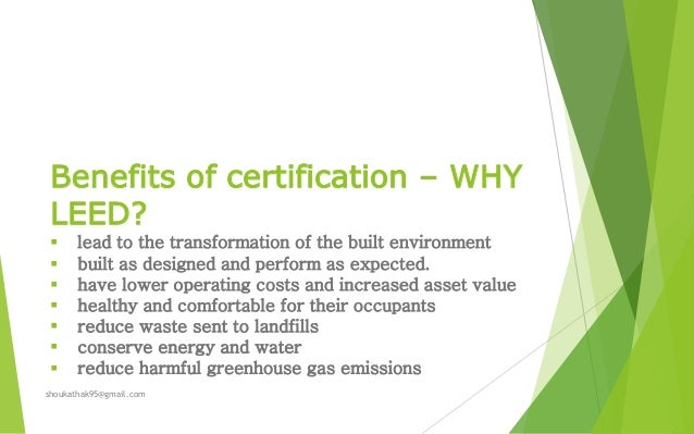 Itc hotels leed platinum certification for Benefits of leed