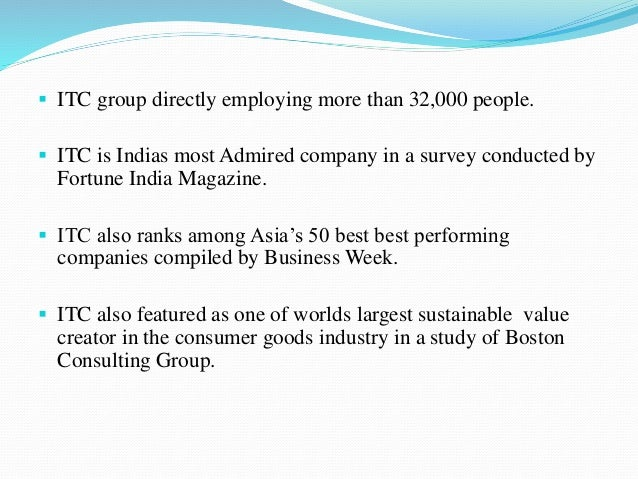 the vision and mission of itc Itc is one of india's foremost private sector companies, committed to creating  enduring value for the nation and the shareholder the company's vision is to.