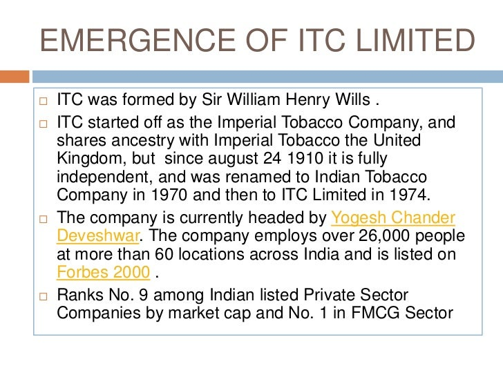yogesh chander deveshwar itc limited commerce essay Between 1996, the year when yogesh chander deveshwar became chairman of itc, and march 2017, itcs.