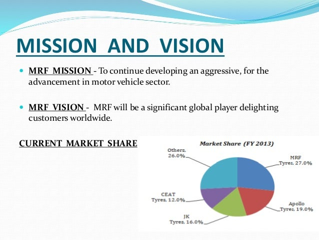 vission and mission of mrf tyres company Mrf ltd is india's no1 tyre manufacturing company the company is  stems  from its vision statement of continuously enhancing stakeholder value.