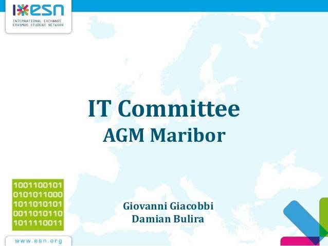 IT Committee AGM Maribor Giovanni Giacobbi Damian Bulira