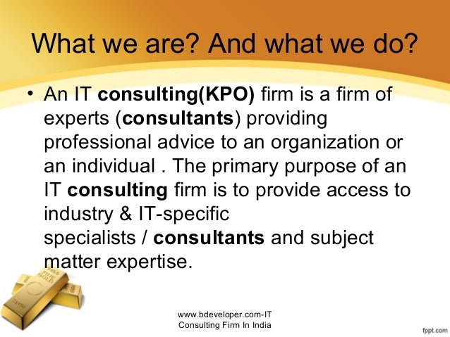 It consulting firm in india Slide 2