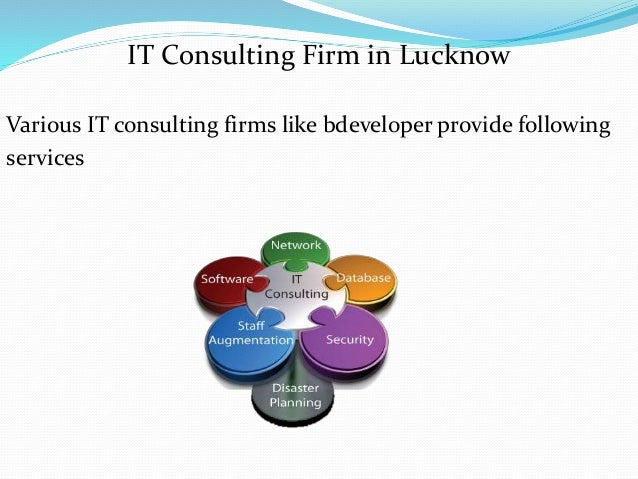 IT Consulting Firm in Lucknow Various IT consulting firms like bdeveloper provide following services