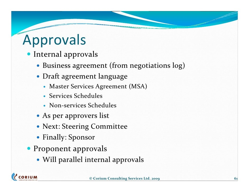 Outsourcing Contract Negotiations Structure Process Amp Tools