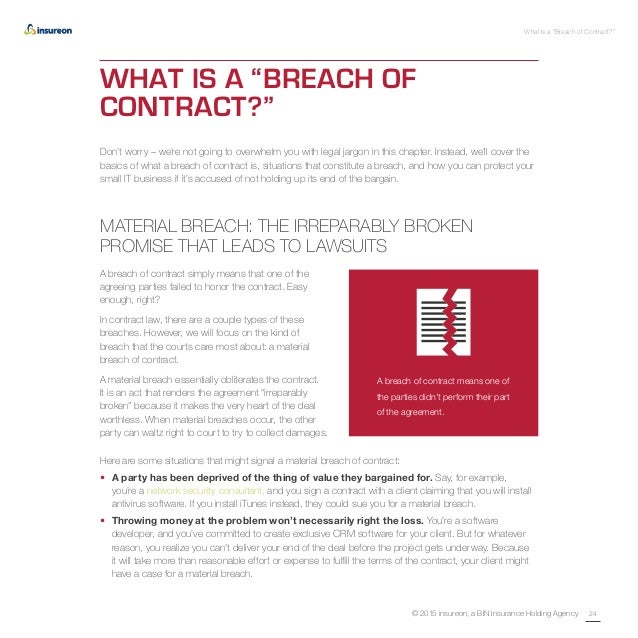 Awesome Breach Of Contract Basics For Your Business. Get It In Writing The It ProS  Guide To Essential Contracts