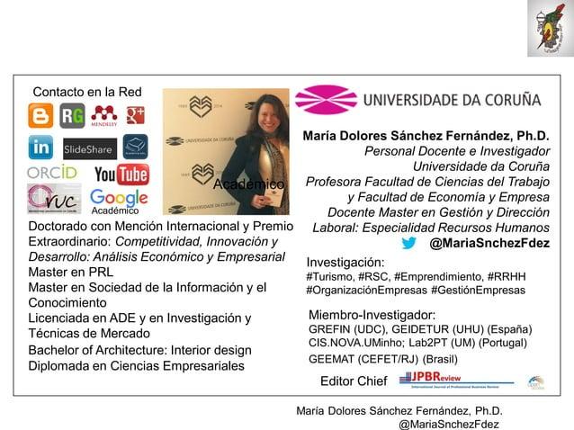 Mar�a Dolores S�nchez Fern�ndez, Ph.D. @MariaSnchezFdez Mar�a Dolores S�nchez Fern�ndez, Ph.D. Personal Docente e Investig...