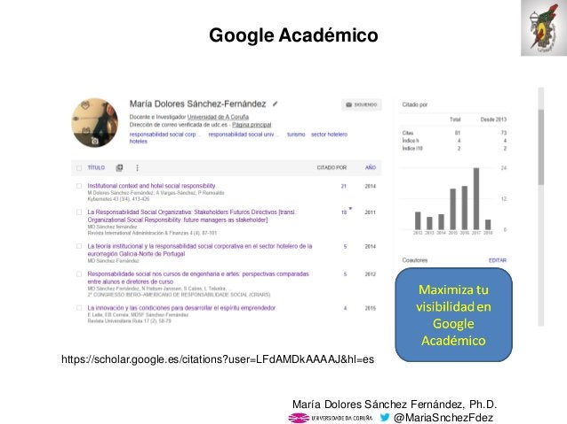 Mar�a Dolores S�nchez Fern�ndez, Ph.D. @MariaSnchezFdez Google Acad�mico https://scholar.google.es/citations?user=LFdAMDkA...