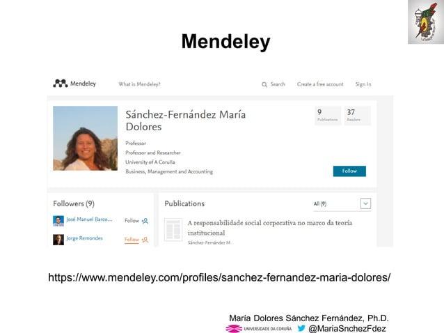 Mar�a Dolores S�nchez Fern�ndez, Ph.D. @MariaSnchezFdez Mendeley https://www.mendeley.com/profiles/sanchez-fernandez-maria...