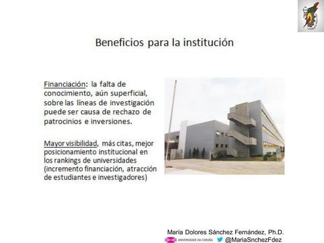Mar�a Dolores S�nchez Fern�ndez, Ph.D. @MariaSnchezFdez