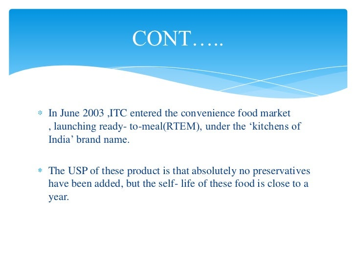 convenience food and its marketing The african fast food market is still in early stages of development in many  african countries excluding south africa and egypt that have well.
