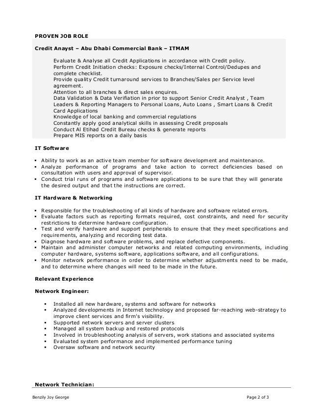 banking it professional resume