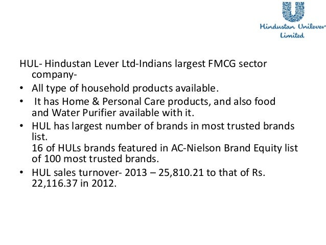 hul and itc They're tales in contrast itc, the listed cigarettes-to-consumer goods conglomerate, saw its shares rise 2 percent, while hindustan unilever ltd (hul), the largest consumer company, saw.